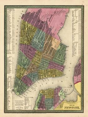 1850, New York City Battery ParkMap, New York, United States