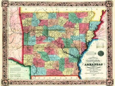 Maps Of Arkansas Posters At AllPosterscom - State map of arkansas
