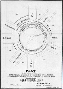 1854, Pennsylvania Avenue, New Hampshire Avenue, K Street North, Washington, DC