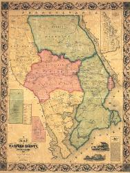 Affordable Maps of Maryland Posters for sale at AllPosters.com