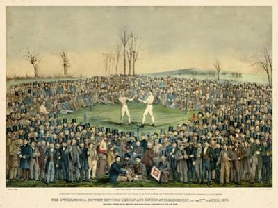 1860, Boxing Match International Contest Between Heenan and Sayers at Farnborough