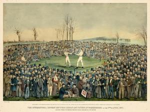 1860, Boxing Match International Contest Between Heenan and Sayers at Farnborough