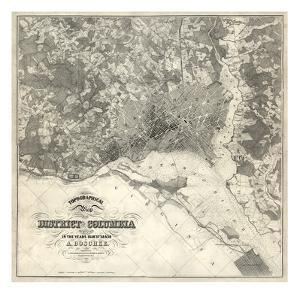 1861, Washington D.C. Topographic Map, District of Columbia, United States