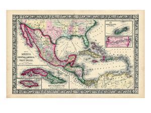 1864, Bahamas, Cuba, Dominican Republic, Honduras, Jamaica, Mexico, Puerto Rico