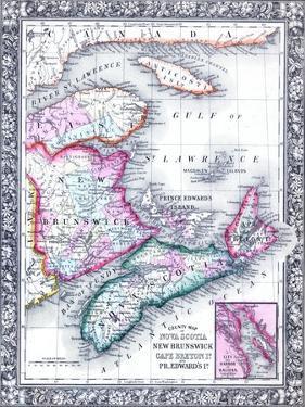 1864, Canada, New Brunswick, Nova Scotia, Prince Edward Island, North America, Nova Scotia
