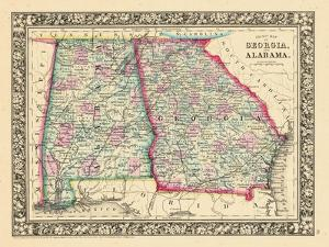 1864, Georgia and Alabama Mitchell Plate, Alabama, United States