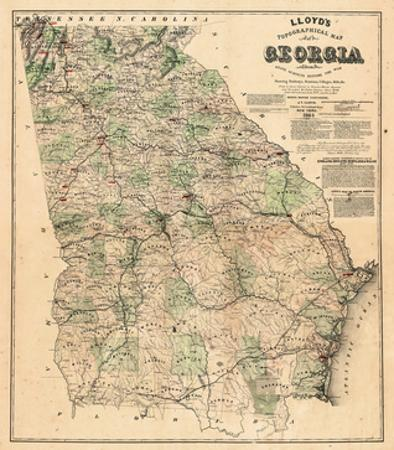 Georgia Map State.Affordable Maps Of Georgia Posters For Sale At Allposters Com