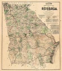 Affordable Maps of Georgia Posters for sale at AllPosters.com