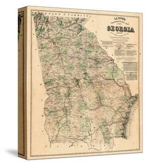1864, Georgia State Map, Georgia, United States