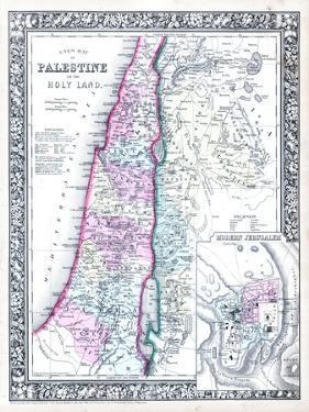 1864, Israel, Jordania, Palestine, Asia, Holy Land, Palestine, Modern Jerusalem