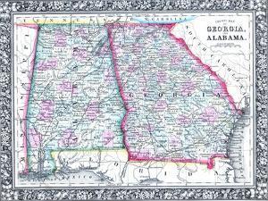1864, United States, Georgia, Alabama, Florida, North America, Georgia and Alabama