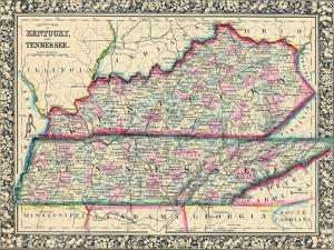 1864, United States, Kentucky, Tennessee, North America, Kentucky and Tennessee