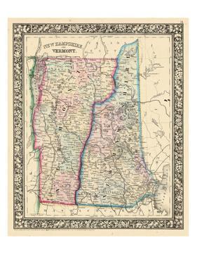 1864, United States, New Hampshire, Vermont, North America, New Hampshire and Vermont
