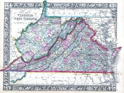 1864, Virginia and West Virginia Mitchell Plate, Virginia, United States