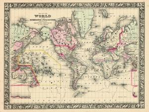 1864, World, World Map