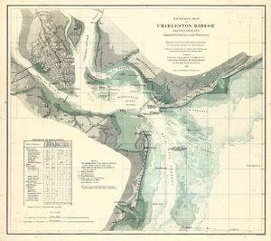 1865, Charleston Harbor Chart South Carolina, South Carolina, United States