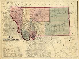 Affordable Maps of Montana Posters for sale at AllPosters.com