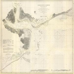 1866, Charleston Harbor Chart South Carolina, South Carolina, United States
