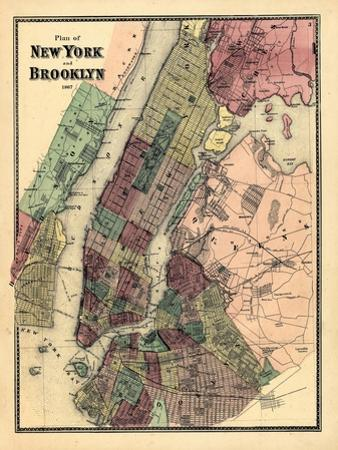 1867, New York & Brooklyn Plan, New York, United States