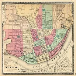 Affordable Maps Of Cincinnati Oh Posters For Sale At Allposterscom - Cincinnati-ohio-on-us-map