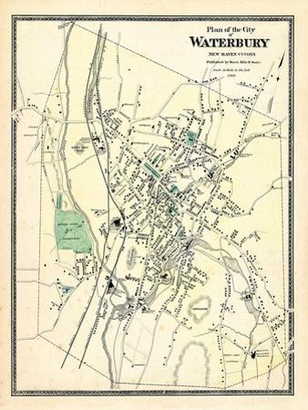 1868, Waterbury City Plan, Connecticut, United States