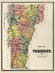 Affordable Maps of Vermont Posters for sale at AllPosters.com