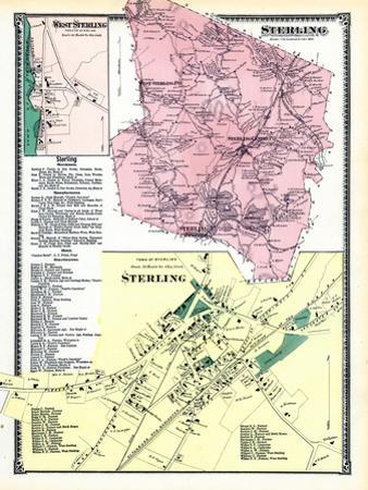1870, Sterling, Sterling Town, Sterling West, West Sterling, Massachusetts, United States