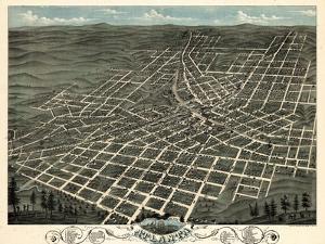 1871, Atlanta Bird's Eye View, Georgia, United States