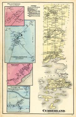 1871, Cumberland, Cumberland Center, Presumpscott Falls, New Casco, Portland Corners, Maine, USA