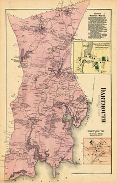 1871, Dartmouth, Smith Mills Town, Russells Mills Town, Massachusetts, United States