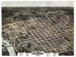 1872, Columbia Bird's Eye View, South Carolina, United States