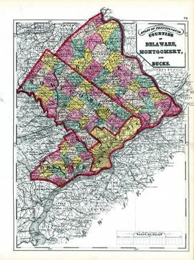 1872, Delaware, Montgomery, Bucks Counties, Pennsylvania, United States