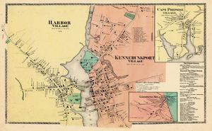 1872, Kennebunkport Village,Harbor Village,Cape Porpoise,Goodwin's Mills, Maine, United States