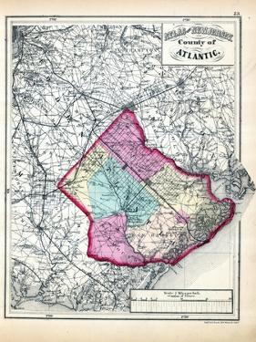 1873, Atlantic County Map, New Jersey, United States