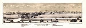 1873, Moline Panoramic View, Illinois, United States
