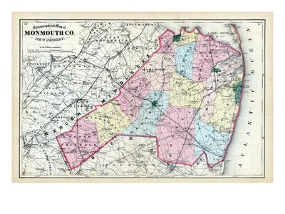 Maps of New Jersey Posters at AllPosterscom