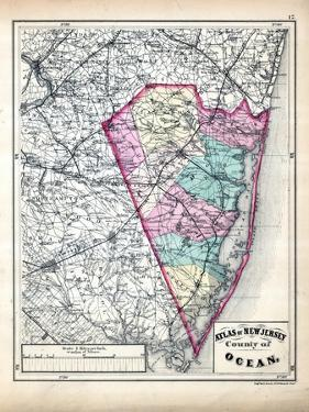1873, Ocean County Map, New Jersey, United States