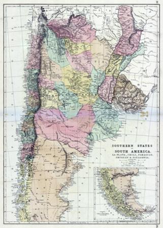 1873, South America, La Plata, Chili, Paraguay, Uruguay, Patagonia