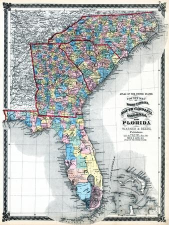Maps Of South Carolina Posters At AllPosterscom - Map for south carolina