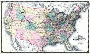 1875, United States Railroad Map, United States