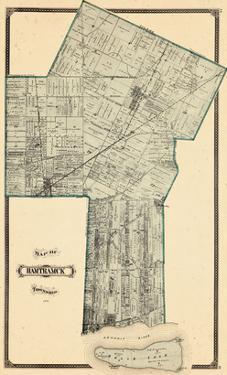 1876, Hamtramck Township, Detroit River, Leesville P.O., Norris, Belle Isle, Michigan, United State
