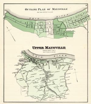 1876, Maysville - Outline Plan, Upper Maysville, Kentucky, United States