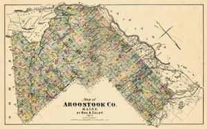 1877, Aroostook County Map, Maine, United States