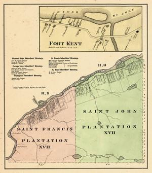 1877, Fort Kent, Saint Francis Plantation, Saint John Plantation, Maine, United States