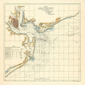 1878, Charleston Harbor Chart South Carolina, South Carolina, United States