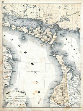 1879, Ontario - Counties - Bruce, Algoma District and Manitoulin Island, Canada