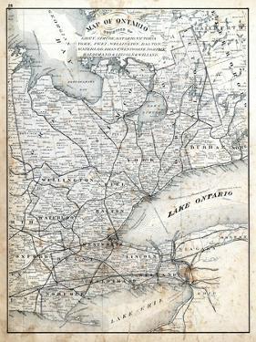 1879, Ontario - Counties - Grey, Simcoe, Ontario, Victoria, York, Peel, Wellington