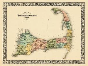 1880, Barnstable County and Cape Cod B, Massachusetts, United States