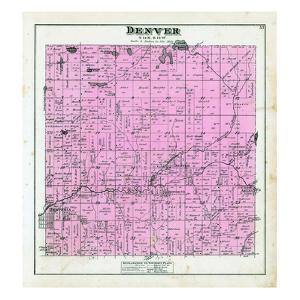 1880, Denver Township, Hesperia, Aetna P.O. Wittie Lake, Stony Lake, Flanders Lake, Mountain Lake