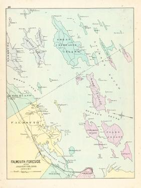 1880, Falmouth, Foreside and Adjacent Islands in Casco Bay, Maine, United States